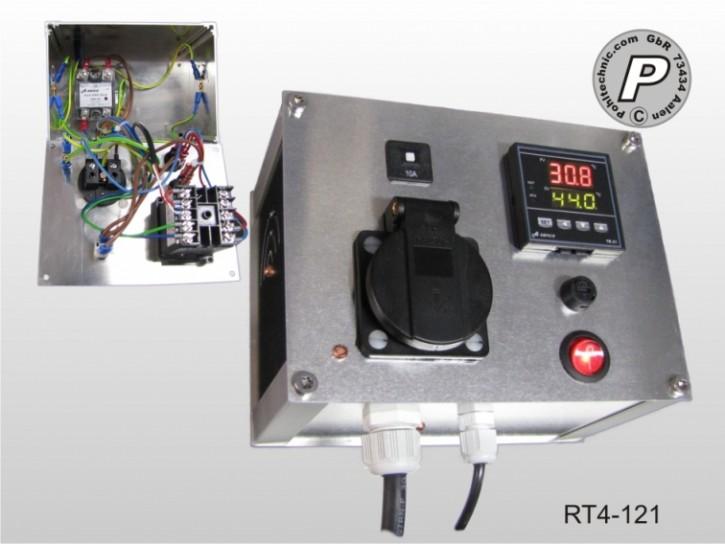 P.I.D.- oder On/Off Temperaturregler Wandgerät bis 10A Schaltlast