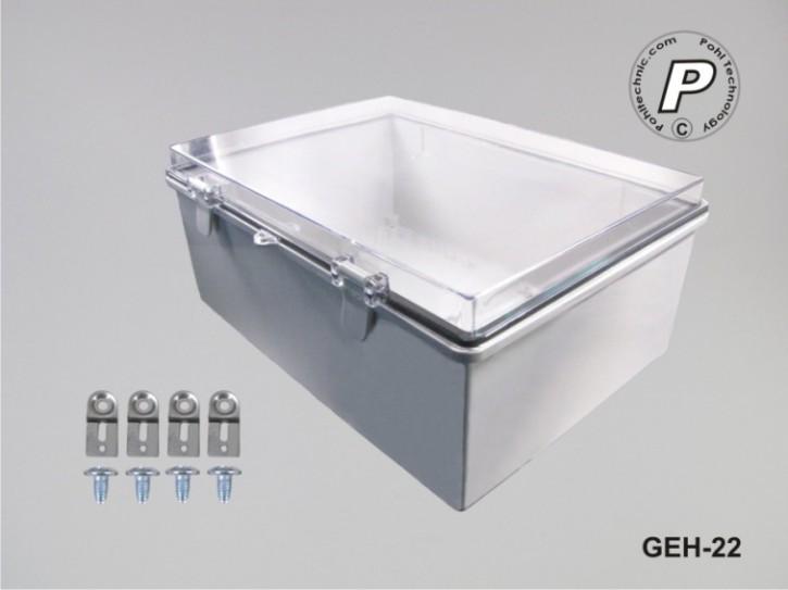 Wandschaltschrank Kunststoff Schaltkasten mit Sichttüre GEH-22