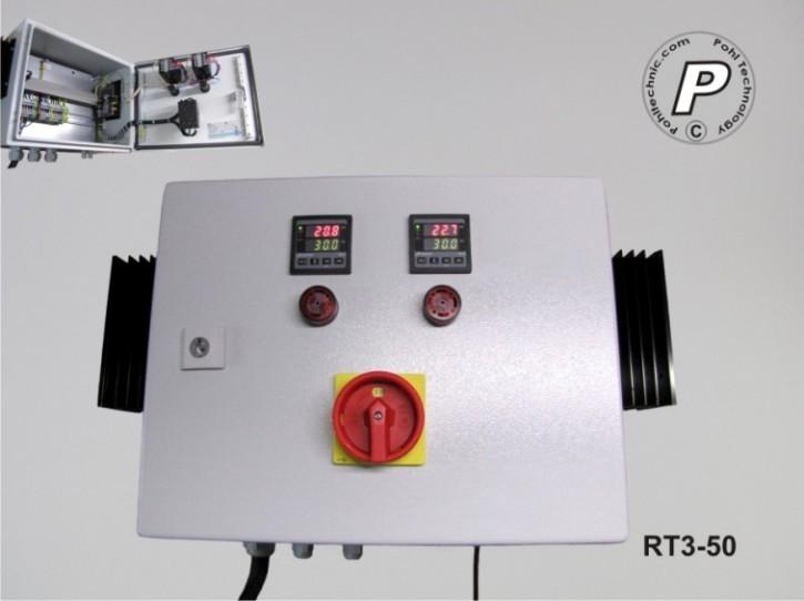 P.I.D.-2-Kanal-Temperaturregler 400VAC