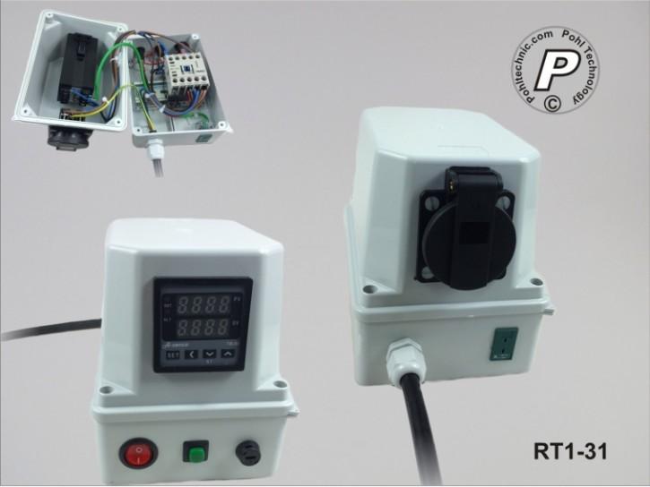 Temperaturbegrenzer / -regler Steckerfertig mit Typ-K Sensoranschluss