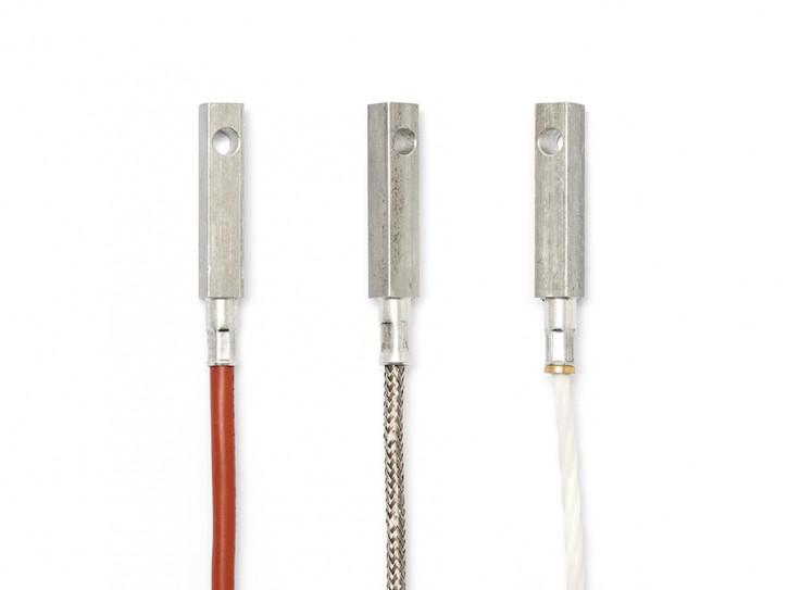 Pt100 Anlegetemperaturfühler mit Bohrung FEP / Silikon 3x0,22mm² / 4 Meter