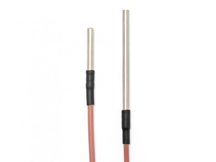 Pt100 Kabeltemperaturfühler wasserdicht vergossen Ø 6mm Hülse 100 mm / 2 Meter
