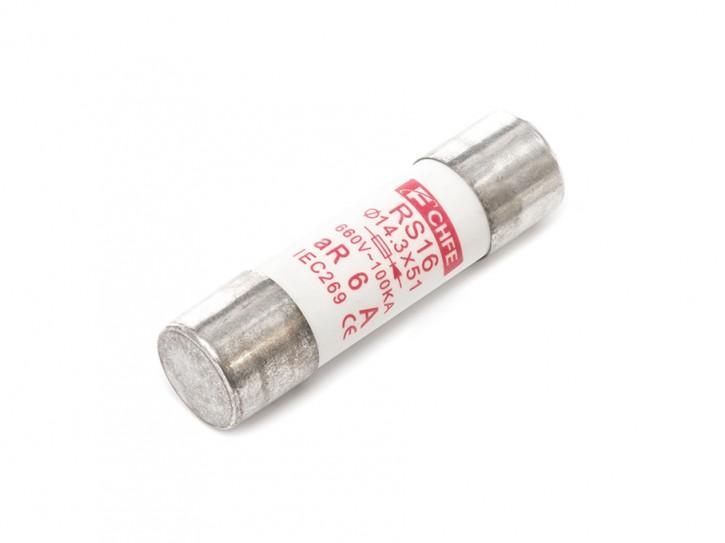 Keramik-Sicherungseinsatz gR oder aR Größe 2: 14,3 x 51mm / 16 A / aR (Teilbereichsschutz)