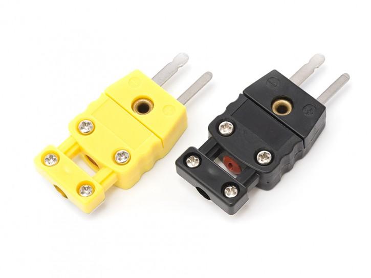 Miniatur-Stecker für Thermoelement Typ K (Kennfarbe gelb)
