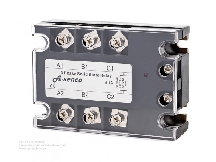 3-Phasen Halbleiter Solid State Relais 230-400V AC / DC Steuerspannung 40 A