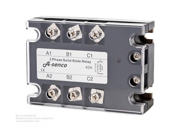 3-Phasen Halbleiter Solid State Relais 230-400V AC / DC Steuerspannung