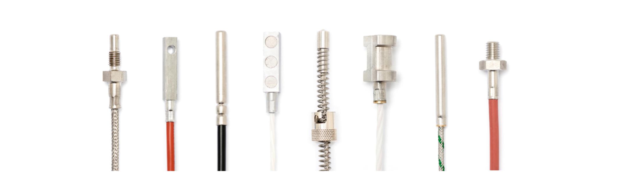 Temperatursensoren in verschiedenen Ausführungen und Kabellängen