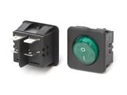 2-Phasen Wippschalter rot oder grün Grün