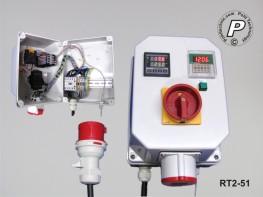 Temperatursteuerung mit Zeitschaltuhr - 400V 16 Ampere