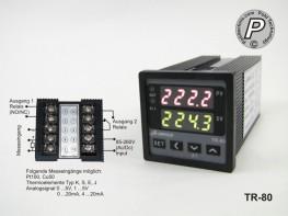 TR-80 A-Senco Temperaturregler Sensor u. Analoginput / 2x Relais