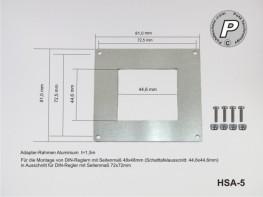 HSA-5 Adapterrahmen für Einbauregler 48x48mm zu 72x72mm
