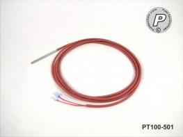 PT100-501 Kabelfühler 50x3mm 2m 205°C