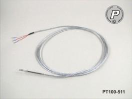PT100-511 Kabelfühler 50x3mm 2m 400°C