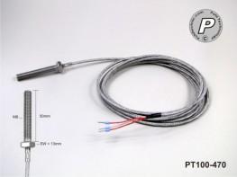 PT100-470 Schraubenfühler M8x50 V4A+ 2m Hochtemperaturkabel ...4