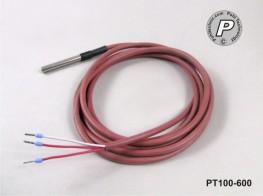PT100-600 Wasserdicht IP68 50x6mm mit 2m Leitung