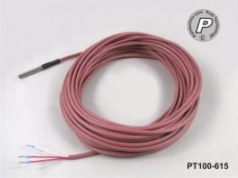 PT100-615 Wasserdicht IP68 50x6mm mit 15m Leitung