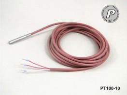 PT100-10 Temperaturfühler 50x6mm V4A schnell 4m ...200°C