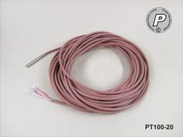 PT100-20 Temperaturfühler 50x6mm, V4A, schnell 15 Meter ...200°C