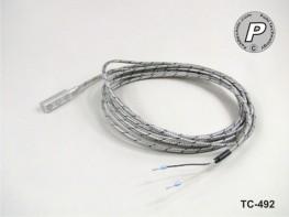 TC-492 Typ J Anlegefühler magnetisch, 3m Hochtemperaturkabel ...