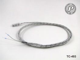 TC-493 Typ K Anlegefühler magnetisch, 2m Hochtemperaturkabel ...