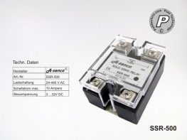 SSR-500 Halbleiter Solid State Relais 10A AC- DC