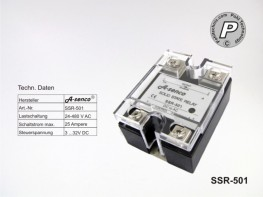 SSR-501 Halbleiter Solid State Relais max. 25A AC-DC