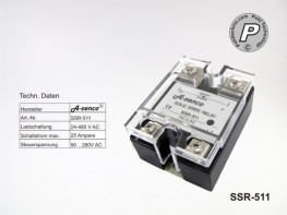 SSR-511 SSR-Relais, max. 25A AC-AC