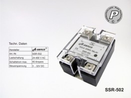 SSR-502 SSR Halbleiter Solid State Relais max. 40A AC-DC
