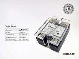 SSR-512 SSR-Relais max. 40A AC-AC