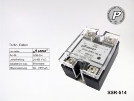 SSR-514 Halbleiter Solid State Relais max. 80A AC-AC