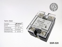 SSR-520 Gleichstrom Solid State Relais max. 10A DC-DC