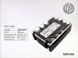 SSR-602 Halbleiter Solid State Relais 400VAC max. 40A AC-DC