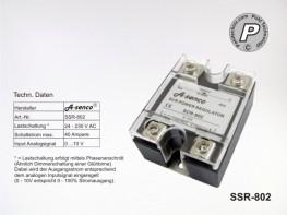 SCR-802 Leistungssteller 40A 230V Ansteuerung 0-10V analog
