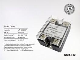 SCR-812 SSR Leistungssteller 40A 230V Ansteuerung 4-20mA analog