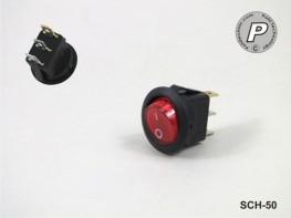 SCH-50 Beleuchteter Wippschalter für 230V AC