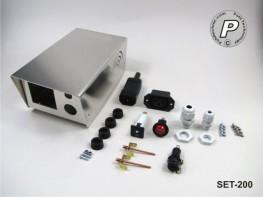 SET-200 Tischgehäuse-Set + CNC-Fräsungen + Zubehör