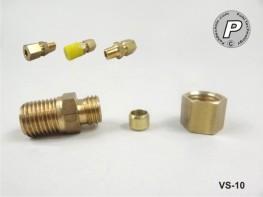 VS-10 Fühlerverschraubung 6mm, 1/4'', Messing, mit Schneidring