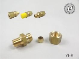 VS-11 Klemmverschraubung 6mm, 1/8'', Messing, mit Schneidring