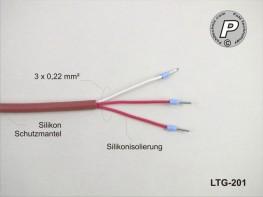 LTG-201 Verlängerungskabel für PT100 Silikon ...205°C