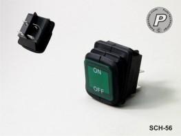 SCH-56 2-Ph. Wippschalter IP54 Grün