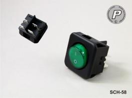 SCH-58 Wippschalter Grün