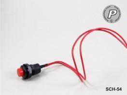 SCH-54 Tastschalter rund, Rot