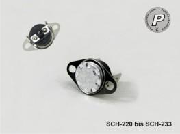 SCH-220 Bimetall Temperaturschalter mit manueller Wiedereinschaltung