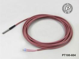 PT100-604 Wasserdicht IP68 50x6mm mit 5m Leitung