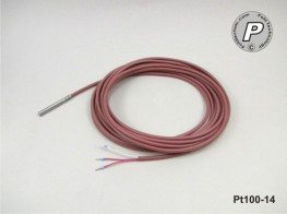 PT100-14 Temperaturfühler 50x6mm V4A, schnell 5m