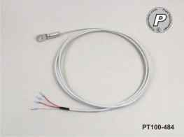 PT100-484 Anlegefühler m. Bohrung, Ø 6,4mm, ...200°C