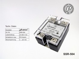 SSR-504 Halbleiter Solid State Relais max. 80A AC-DC