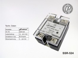 SSR-524 Gleichstrom Solid State Relais max. 80A DC-DC