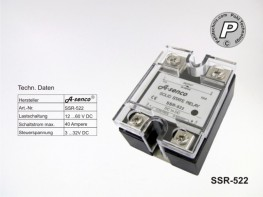 SSR-522 Gleichstrom Solid State Relais max. 40A DC-DC