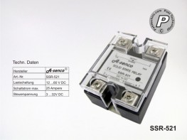 SSR-521 Gleichstrom Solid State Relais max. 25A DC-DC
